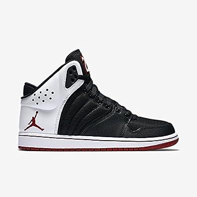 Jordan Men's 1 Flight 4 Shoe (820135 001) BlackGym RED