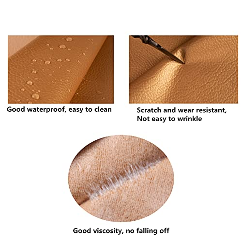 Simunliyg Waterproof Leather Repair Patch Tape Self-Adhesive Leather Repair Patch First Aid Patch Fix Tear Kit for Sofa,Couch,Car Seats,Handbags,Furniture,Jackets,Shoes,Chairs(Dark Brown, 6.9X55 inch)