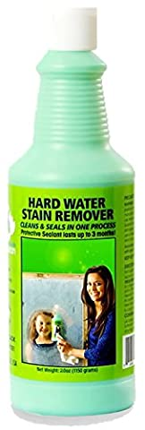 Bio Clean: Eco Friendly Hard Water Stain Remover (40oz Large)- Our Professional Cleaner Removes Tuff Water Stains From Shower doors, Windshields, Windows, Chrome, Tiles, Toilets, Granite, steel - Water Spots Chrome