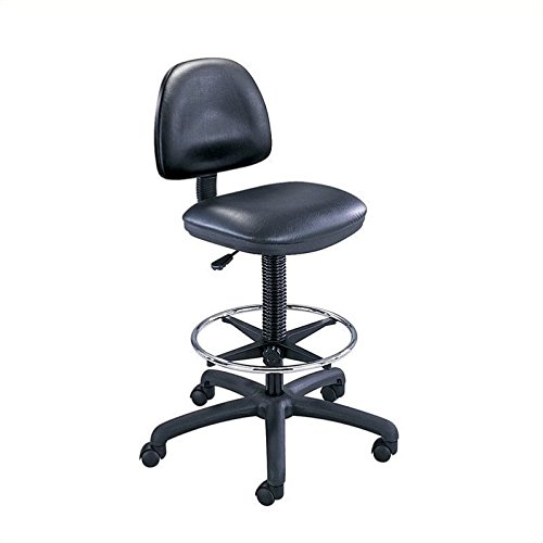 Safco Products 3406BL Precision Vinyl Extended Height Chair with Footring (Additional options sold separately), Black by Safco Products