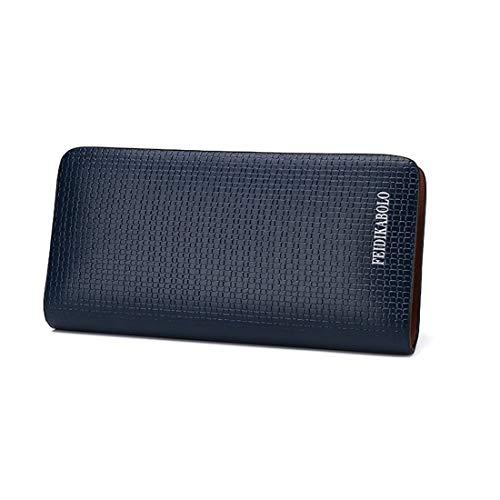 Téléphone À En Blue color Portable Cuir Pour De Black Capacité Haxibkena Hommes Haute Femmes Forfaits Et FxqEBB