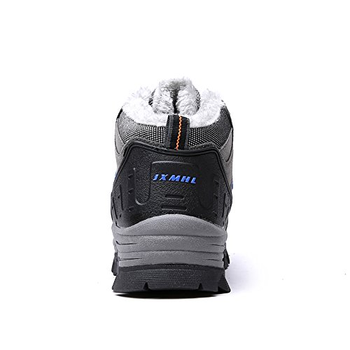 Suede Warm Boots Waterproof Resistant Lined and wear Cotton Fur Breathable Grey Outdoor Plush Hiking Leather Winter Boots Aw1pq1