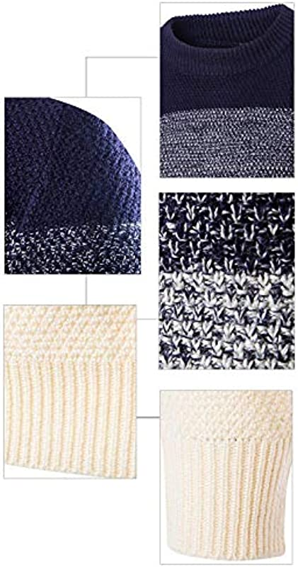 Męska zima delikatna nowość długi rękaw kolor modny stylowy hit kolor sweter z dzianiny z okrągłym wycięciem pod szyją dzianiny Jumper Slim Fit sweter bluza top: Odzież