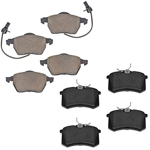 Audi A6 Front Brake (Front & Rear Ceramic Brake Pad Kit & for Audi A4 A6 Quattro VW Passat)
