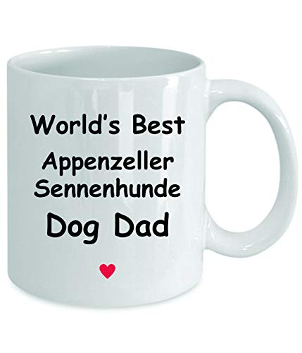Gift For Appenzeller Sennenhunde Dog Dad - World's Best - Fun Novelty Gift Idea Coffee Tea Cup Funny Presents Birthday Christmas Anniversary Thank You Appreciation 11oz White Mug 2
