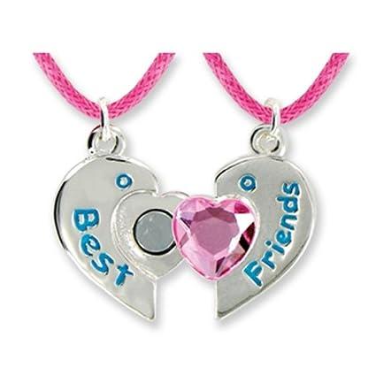Amazon dm merchandising best friends forever twin pendants in dm merchandising best friends forever twin pendants in keepsake boxes pink heart girls necklace aloadofball Choice Image