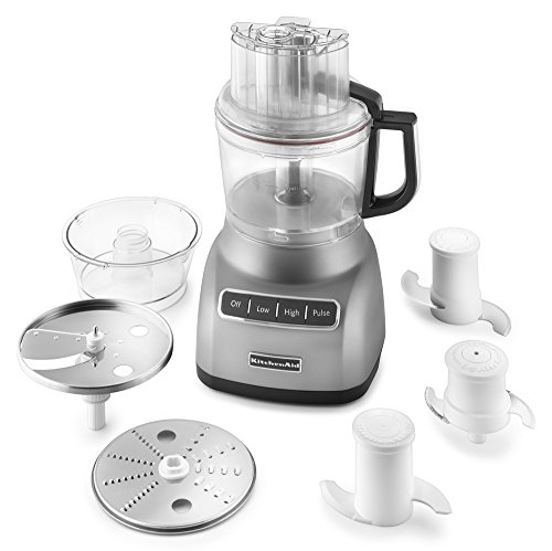KitchenAid KFP0922CU 9-Cup Food Processor with Exact Slice System - Contour Silver by KitchenAid (Image #2)