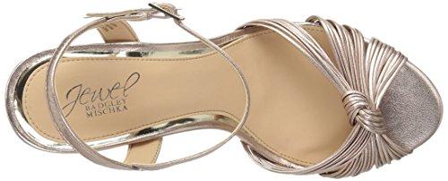 Jewel Rose Heeled Gold Sandal Badgley Women's Lady Mischka ZTUx5q6