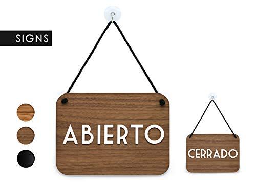 3DP Signs | Retrò Vintage - Abierto/Cerrado - Cartel Doble Cara Signo [OC16] - Placa de la Puerta Colgante de Doble Cara - Letrero de la Tienda ...