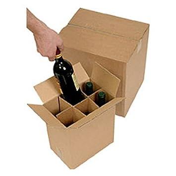 Juego de 10 cajas para botellas de vino Davpack ACD12