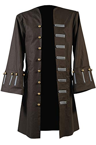 Cosplaysky Halloween Jack Sparrow Costume Pirates of The Caribbean 4 Cosplay Coat XXX-Large by Cosplaysky (Image #1)