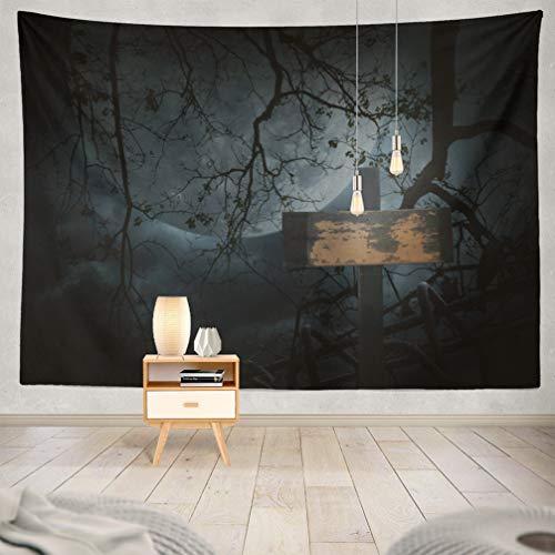 WAYATO Moon Wall Hanging Tapestry, 80 x 60