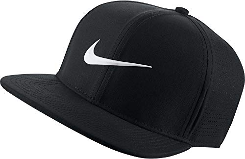 NIKE Unisex AeroBill Adjustable Cap, Black/Anthracite/White, One Size