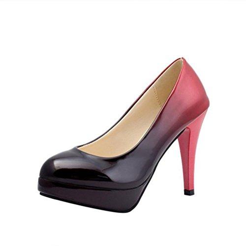 High-Heel Schuhe | Frühlings-Sommer-einzelne Schuhe | Farbverlauf Schuhe | High Heels Pumps Bootsschuhe | Lackleder Schuhe | Hochzeitsfest Schuhe | Freizeitschuhe für Indoor & Outdoor C