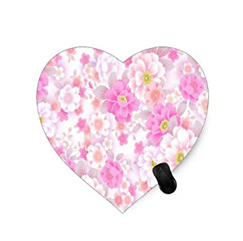 Juego de cojín de ratón en Forma de corazón Diseño Floral ...