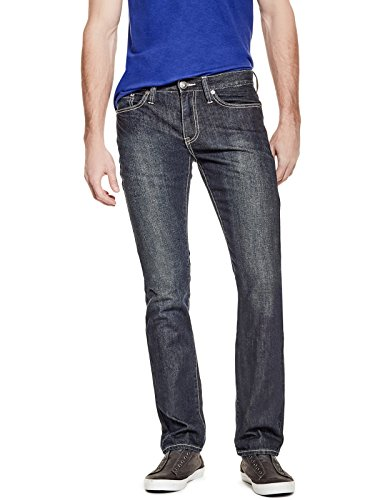 GUESS Factory Men's Delmar Slim Straight Jeans (Jeans Men Guess)