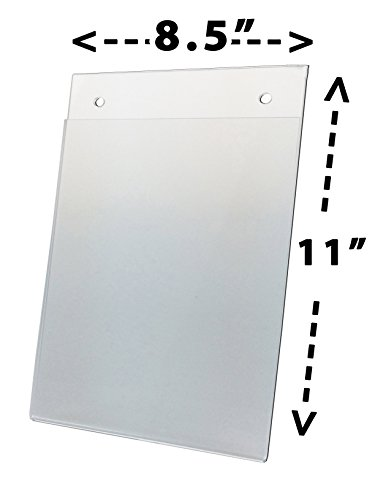 Nu-Dell 38008Z Clear Plastic Sign Holder, Wall Mount, 8 1/2 x 11 Inches