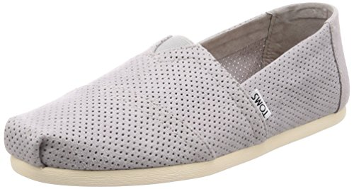 TOMS Men's Seasonal Classics Drizzle Grey Perforated Synthetic Suede 10.5 D US