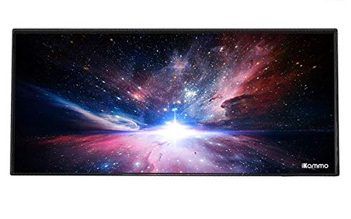 """iKammo Extended Gaming Mouse Pad/Mat Extra Large Desk Pad XXL Big Office Desk Mouse Mat/Pad Compatible Computer Desk Stationery Accessories(35""""x 15.55""""x 0.08"""")"""
