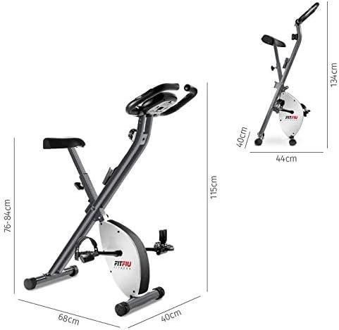 FITFIU Fitness BEST-200 - Bicicleta Estática Spinning plegable con ...