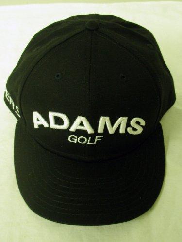 Adams Golf Super S Fitted Hat 5950 (Black, 7 1/4) Flat Bill Cap