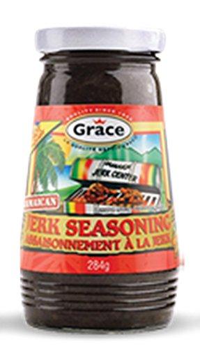 Grace Jerk Seasoning – Hot or Mild – Authentic Jamaican Jerk Sauce – Great Jerk Marinade for Jerk Chicken, Pork, Fish, Vegetables, Tofu and More – Bonus Jerk Cooking Recipe Book