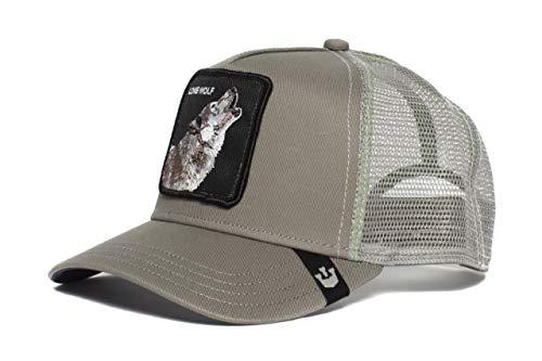 - Goorin Bros. Mens 'Lone Wolf' Wolf Trucker Snapback Trucker Baseball Hat Grey