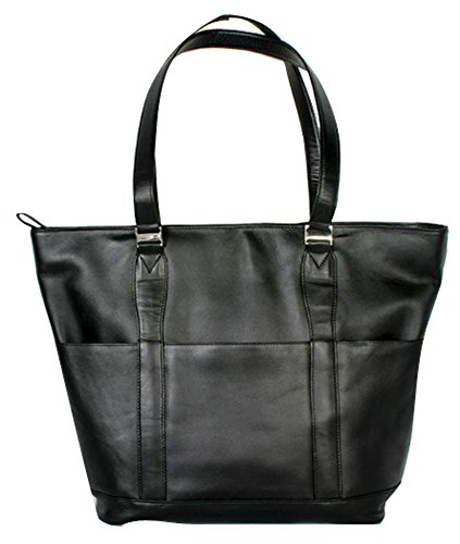 (Winn International Harness Cowhide Leather Ladies Tote in Black)