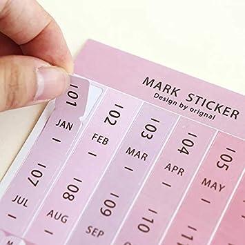 Nos 2018 calendarios pegatinas para organizadores de bala ...