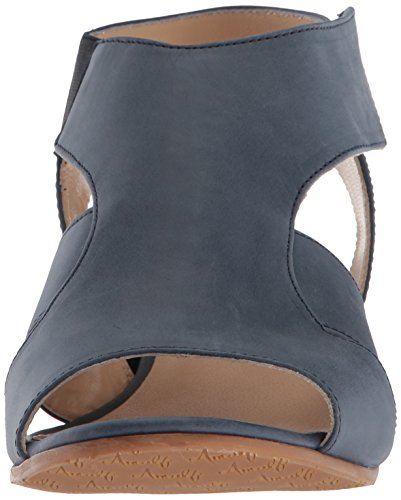 Amalfi by Rangoni Womens Doris Wedge Sandal Blue Talco fgkTZd3