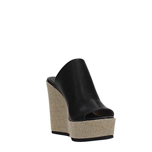 6 Noir Usa Fabbrica Cuir 100 Uk 40 Mod Noir Eu 9 Dei 5 13 Femmes Cm Sandale Compensé 1vera124 Colli wBqZUBIR