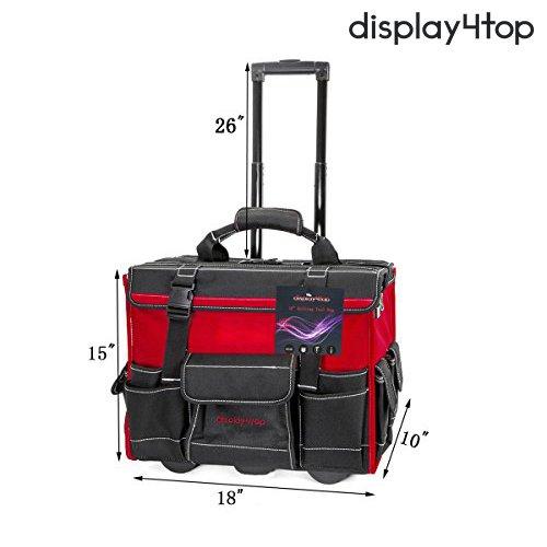 Display4top 18'' Rolling Tool Bag with Handle by Display4top (Image #4)