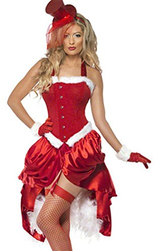 LESRANCE Black Friday Christmas Xmas Red Slim Customes Stage Performance One Size (Jovi Elf Costume)