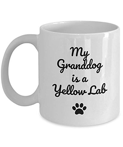 My Granddog is a Yellow Lab Mug - Corgi Mug – Puzzling Dog Lover Coffee Cup Gift - My Granddog - Funny Mug - 11oz, 15oz
