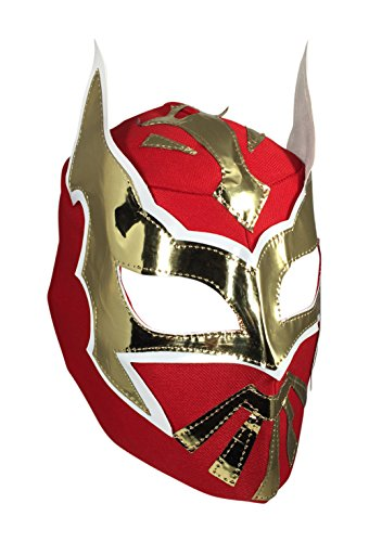 SIN CARA Youth Lucha Libre Wrestling Mask - KIDS Costume Wear - Red -