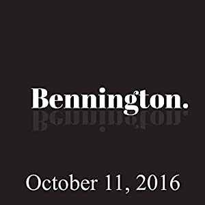 Bennington, Tammy Pescatelli, October 11, 2016 Radio/TV Program
