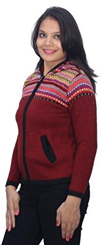 Romano - Sweat-shirt - À Rayures - Col Chemise Classique - Manches Longues - Femme Rouge Rouge