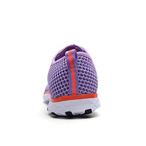Enllerviid Mujer Mesh Slip On Zapatos De Agua De Secado Rápido Casual Seaside Beach Zapatos 8859-w Light Blue