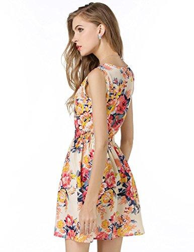 22 Womens Fashion Bestgift White Colors Mini 14 Sleeveless Dress Print UTzgnz1