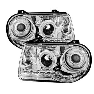 300c Halo Led Projector Headlights - Xtune PRO-JH-C300C-LED-C Chrysler 300C Halo Projector Headlight