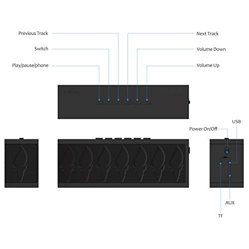 HD Sound, Bluetooth Speaker aelec Wireless Portable Speakers with Waterproof