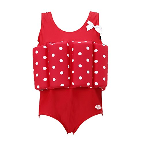 - Wowelife Float Suit Baby Upgraded One-Piece Buoyancy Swimsuit with Arm Bands Learn to Swimming for Boys and Girls, 1-3 Years(Red, S(Chest 11.4,Length 16.9inch))
