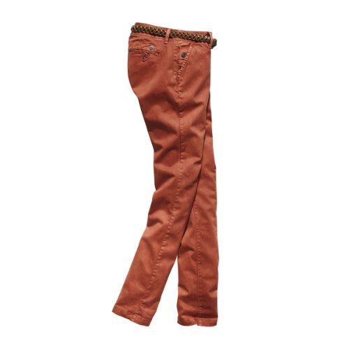Millatz Mujer Chino Pantalón Pants cinnabar Belt Incl Red New Naranja 5129 Timezone Hq1x4fw