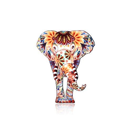MISSU JEWELLRY Individuality Animals Acrylic Brooch Pin Colorful Unisex Dress Decorations Brooch Jewelry (Elephant) ()