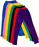 Indistar Little Girls' Soft Cotton Leggings (Set Of -7) 6-7 Years Blue/Pink/Yellow/Green/Black/Red/Purple