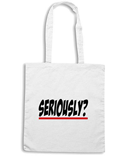 T-Shirtshock - Bolsa para la compra OLDENG00234 seriously s anatomy Blanco