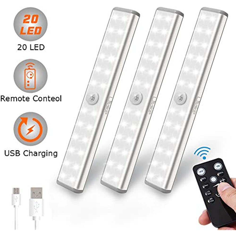 Under Cabinet Lighting Wireless, 20 LED Rechargeable ...