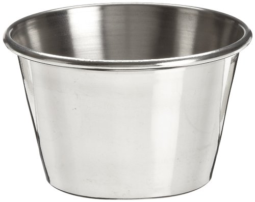 Adcraft OYC-2/PKG Stainless Steel Sauce Cup, 2-1/2 oz. (Pack of 12)