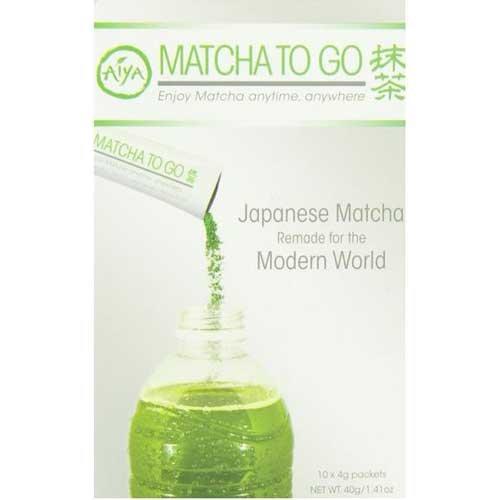 Aiya Matcha to Go Tea Stick Packs, 10 count per pack -- 8 per case. by Aiya
