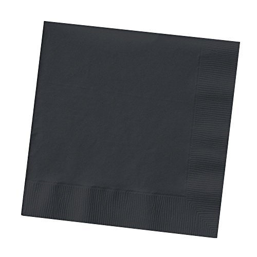 (Set of 3 Creative Converting Touch of Color 200 Count 2-Ply Paper Black Velvet Beverage Napkins bundled by Maven)